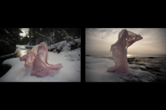 freeze casting (pink diptych) by David Andree